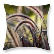 Windy Grass Throw Pillow