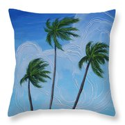Windy Palms Throw Pillow