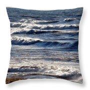 Windy Spring Lake Huron Throw Pillow
