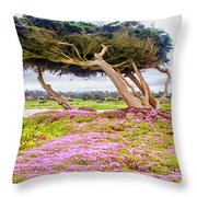 Windy Tree Throw Pillow