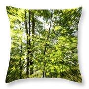 Windy Trees Throw Pillow