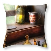 Wine - Care For A Nip Throw Pillow