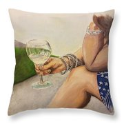 Wine And Bracelets Throw Pillow