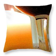 Wine And Candle Throw Pillow