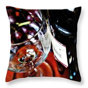 Wine And Dine 1 Throw Pillow