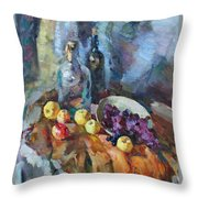 Wine And Fruit Throw Pillow