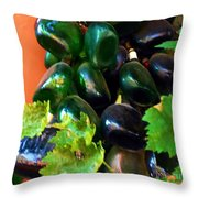 Wine And Grapes Full Circle Throw Pillow