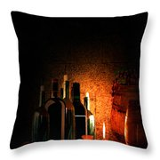 Wine And Leisure Throw Pillow by Lourry Legarde