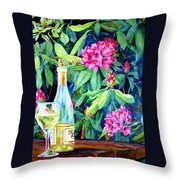Wine And Rhodies Throw Pillow
