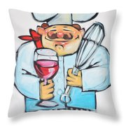 Wine And Wisk Chef Throw Pillow
