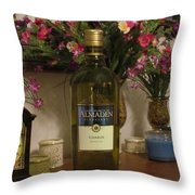 Wine Anytime Throw Pillow