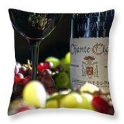 Wine Art Throw Pillow