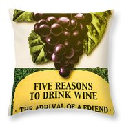 Wine Bar Throw Pillow