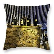 Wine Bazaar Throw Pillow