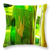 Wine Bottles 21 Throw Pillow
