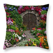 Wine Celler Gates  Throw Pillow