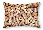 Wine Corks Throw Pillow