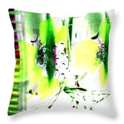 Wine Country Ambiance Throw Pillow