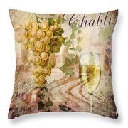 Wine Country Chablis Throw Pillow