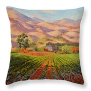 Wine Country II - Talley Vineyard Arroyo Grande Throw Pillow