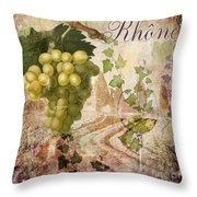 Wine Country Rhone Throw Pillow