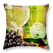 Wine Throw Pillow by Darren Fisher