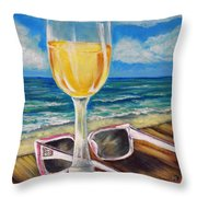 Wine Ding Down Throw Pillow