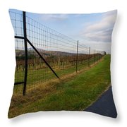 Wine Fields Throw Pillow