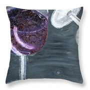 Wine From The Vine To The Glass Throw Pillow