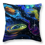 Wine Galaxy Throw Pillow