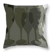 Wine Glass Abstract Throw Pillow
