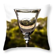 Wine Glass Throw Pillow