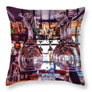 Wine Glasses, Empty Throw Pillow