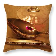 Wine In The Spoon Throw Pillow