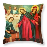 Wine Into Water Throw Pillow