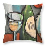 Wine Is Bottled Poetry Throw Pillow
