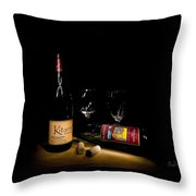 Wine Light Throw Pillow