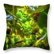 Wine On The Vine Throw Pillow