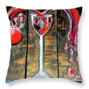 Wine Out Pour Throw Pillow