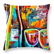 Wine Lovers Abstract Throw Pillow