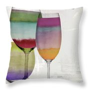 Wine Prism Throw Pillow