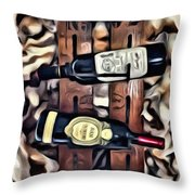 Wine Rack Throw Pillow
