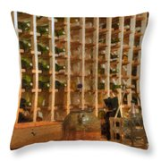 Wine Rack Vineyard Fermentation   Throw Pillow