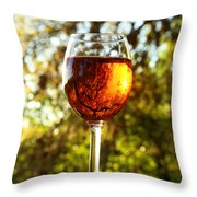 Wine Reflections Square Throw Pillow
