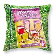 Wine Sign Throw Pillow