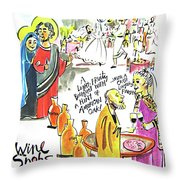 Wine Snobs In Cana - Mmwsc Throw Pillow