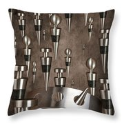 Wine Stopper Storm Throw Pillow