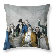 Wine Tasters In A Cellar Throw Pillow