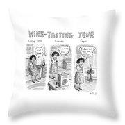 Wine-tasting Tour Throw Pillow