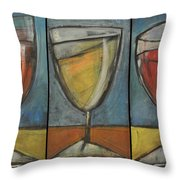Wine Trio - Option One Throw Pillow by Tim Nyberg